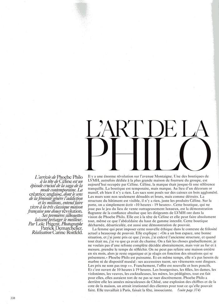 """Phoebe Philo & Anja Rubik photographed by Patrick Demarchelier in """"L'art De La Philo"""" for Vogue Paris, March 2010 1"""