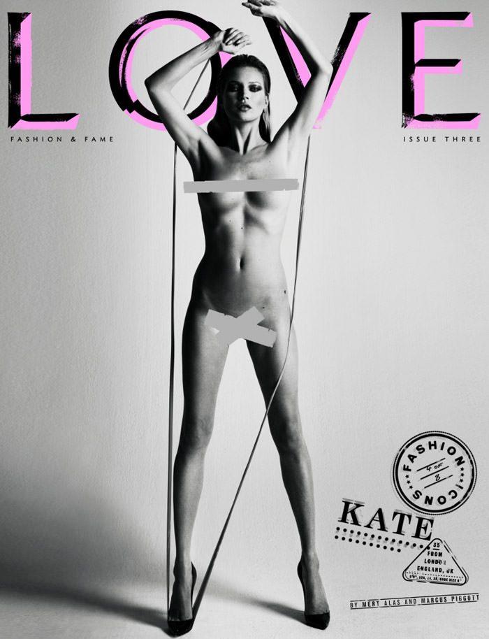 Cover: Kate Moss for Love Magazine – Spring & Summer, 2010 1