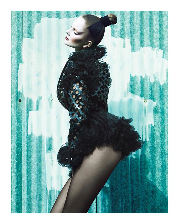 "Eniko Mihalik photographed by Greg Kadel in ""Memories Of Green"" for Numéro #111 2"