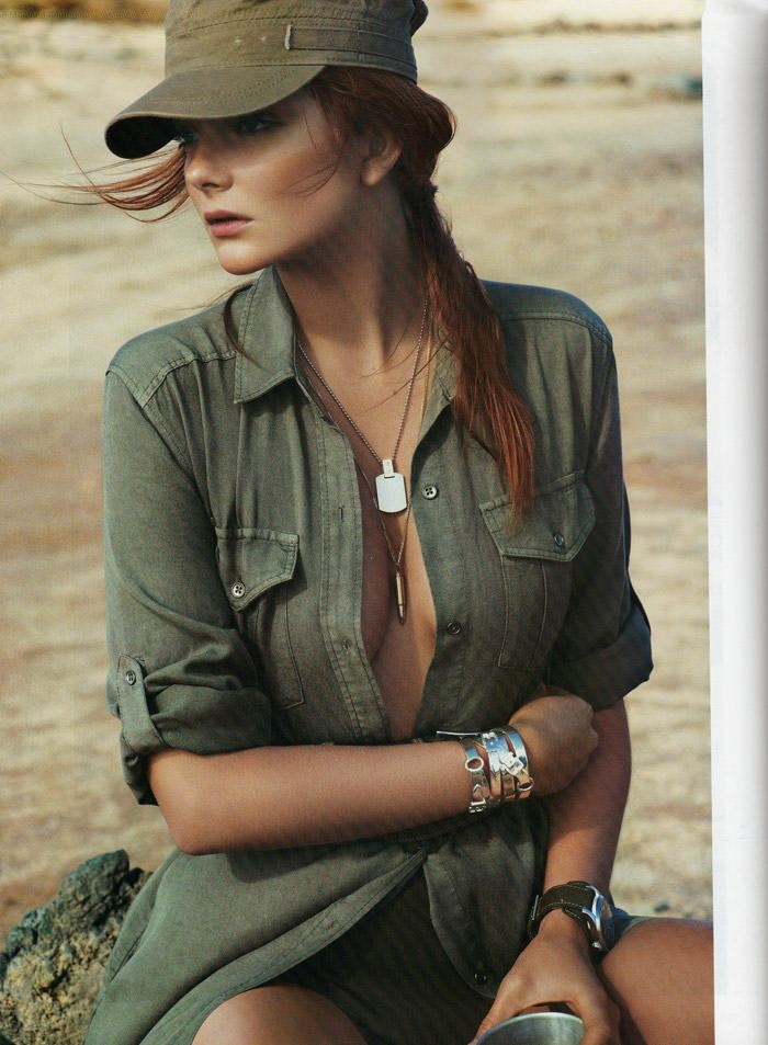 "Eniko Mihalik photographed by Cédric Buchet in ""Mission Lanzarote"" for Vogue Paris, March 2010 3"