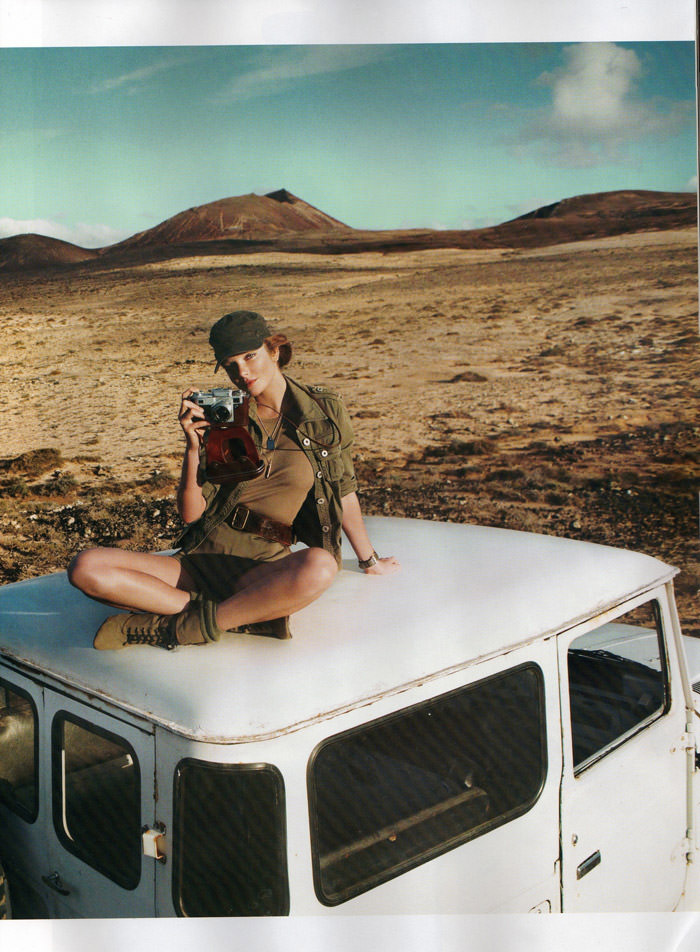 "Eniko Mihalik photographed by Cédric Buchet in ""Mission Lanzarote"" for Vogue Paris, March 2010 7"