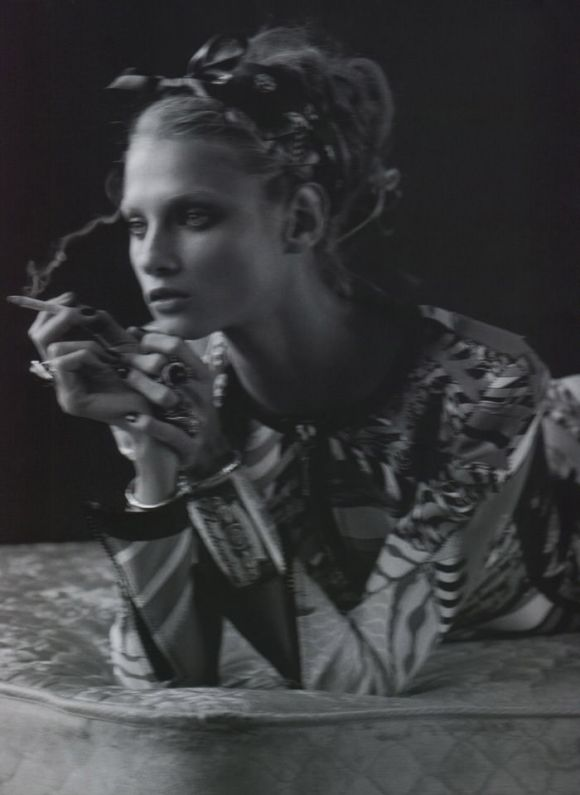 """Anna Selezneva photographed by Mark Segal in """"The Lonesome Highway"""" for Vogue Nippon, March 2010 10"""