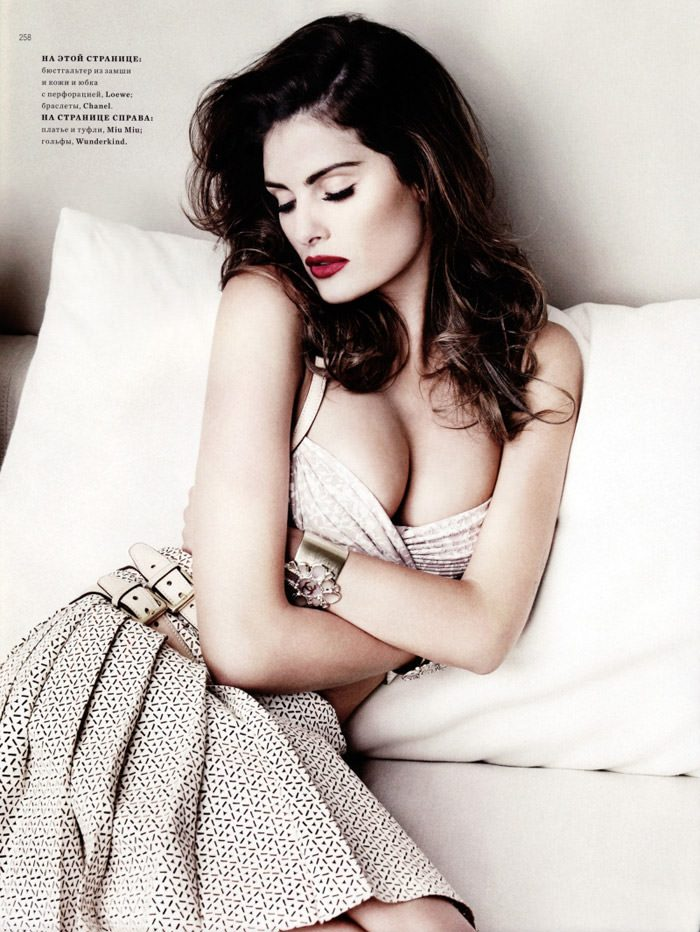 """Isabeli Fontana photographed by Marcin Tyszka in """"French Chic"""" for Harper's Bazaar Russia, March 2010 10"""