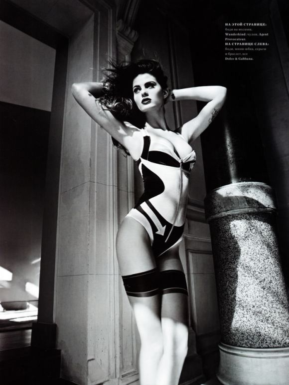 """Isabeli Fontana photographed by Marcin Tyszka in """"French Chic"""" for Harper's Bazaar Russia, March 2010 6"""