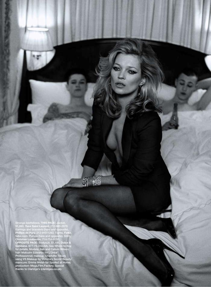 """Kate Moss photographed by Peter Lindbergh in """"Kate The Great"""" for Harper's Bazaar U.S., March 2010 4"""