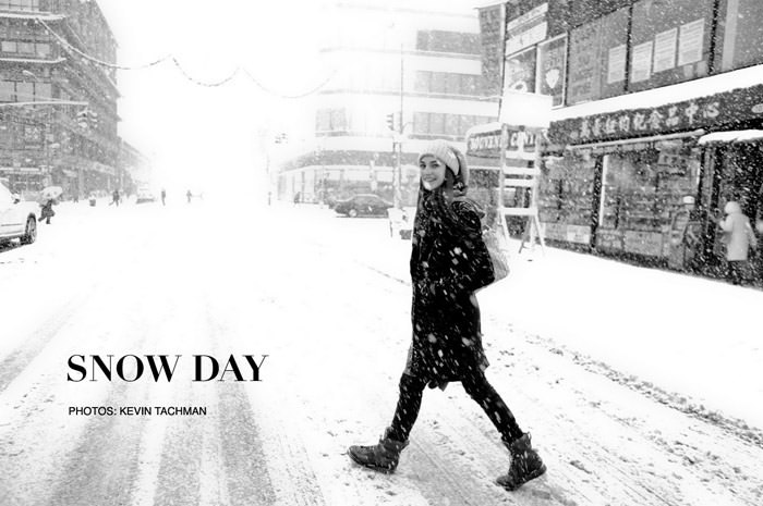 """Documentary: Jacquelyn Jablonski photographed in """"Snow Day"""" by Kevin Tachman for Models.com 1"""