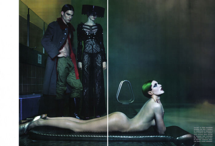Rie Rasmussen photographed by Steven Klein for Vogue Italia Couture, March 2010 6