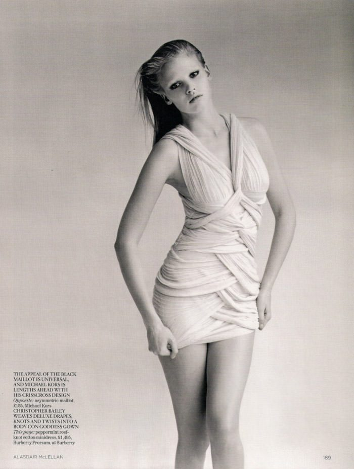 "Lara Stone photographed by Alasdair McLellan in ""Go Figure"" for Vogue UK, April 2010 8"