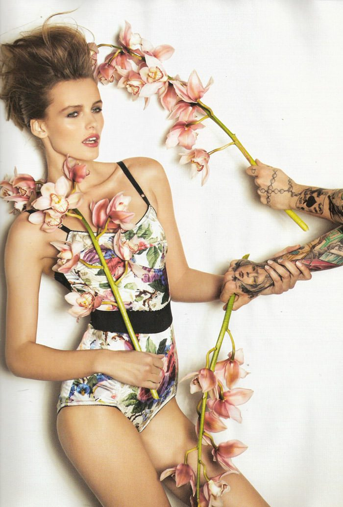 "Edita Vilkeviciute photographed by David Vasiljevic in ""Surf Urbano"" for Vogue España, April 2010 5"