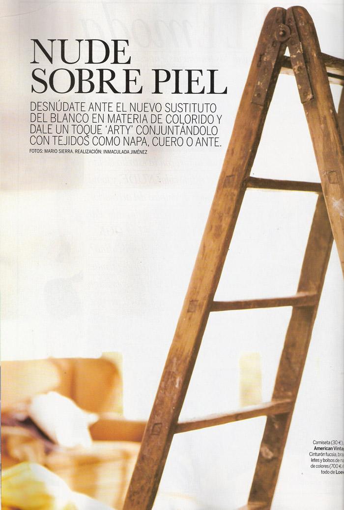 """Masha Novoselova photographed by Mario Sierra in """"Nude Sobre Piel"""" for Elle España, April 2010 2"""