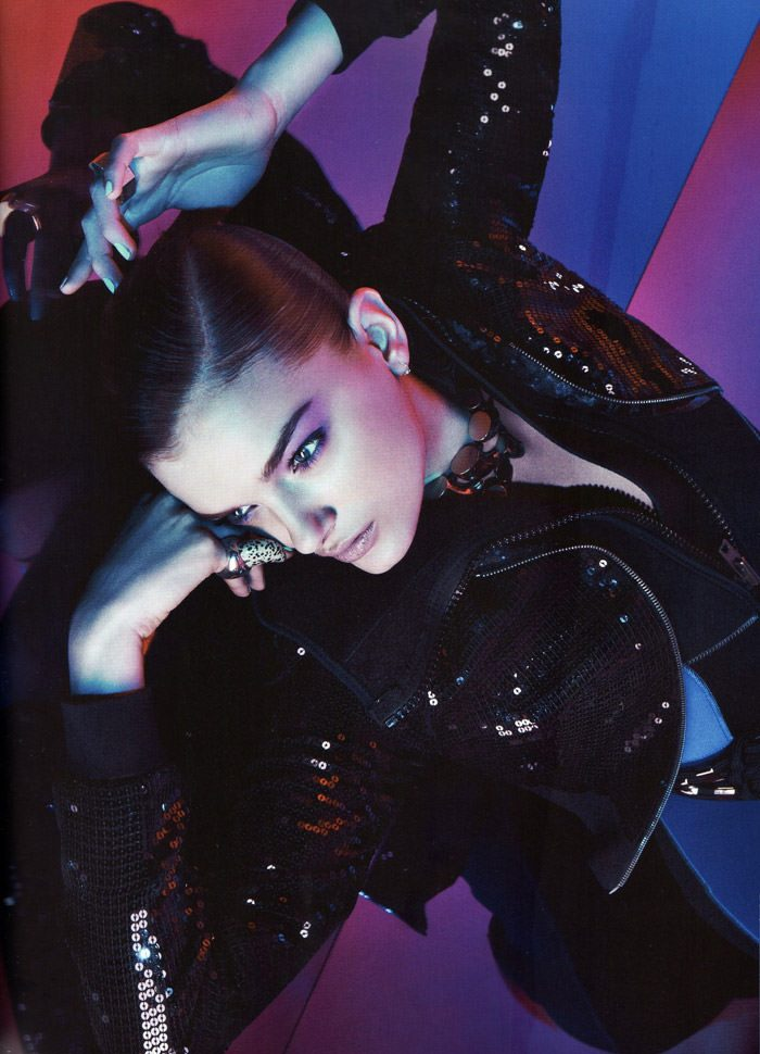 """Lily Donaldson photographed by Sebastian Kim in """"Color Me Bad"""" for Numéro #111 2"""