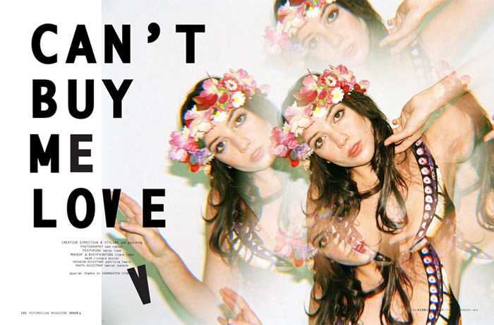 """Daisy Lowe photographed by Ben Rayner in """"Can't Buy Me Love"""" for Futureclaw Magazine, Issue 4 2"""