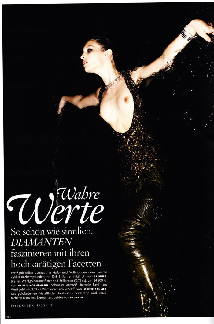 "Georgina Stojiljkovic photographed by Ben Hassett in ""Wahre Werte"" for Vogue Germany, May 2010 1"