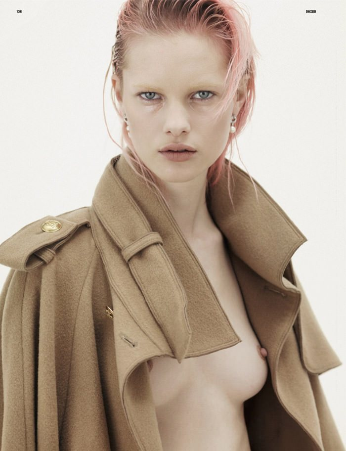 "Hannah Holman photographed by Karim Sadli in ""Naked Young Lady"" for Dazed & Confused, May 2010 7"