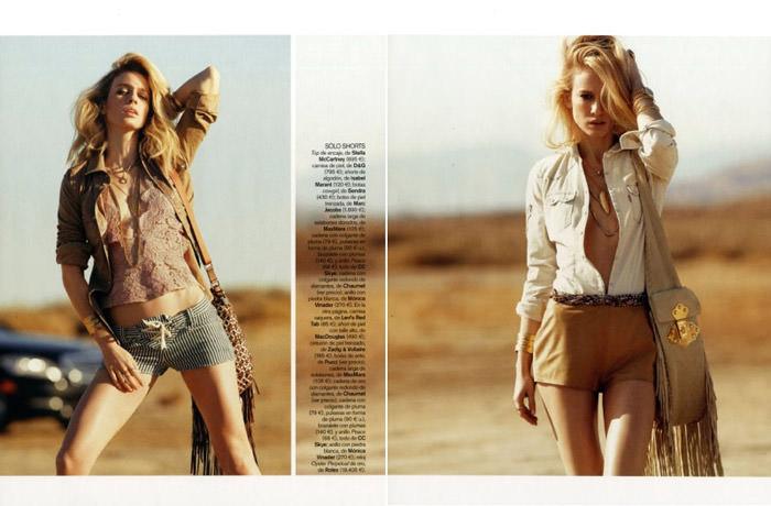 """Natasa Vojnovic photographed by Nicolas Moore in """"Autostop"""" for Vogue España, April 2010 3"""