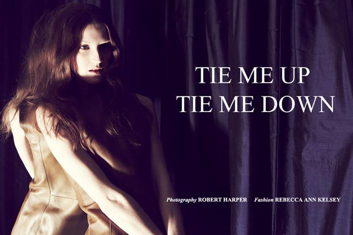 "Rebecca Chandler photographed by Robert Harper in ""Tie Me Up, Tie Me Down"" for ThePop.com 1"