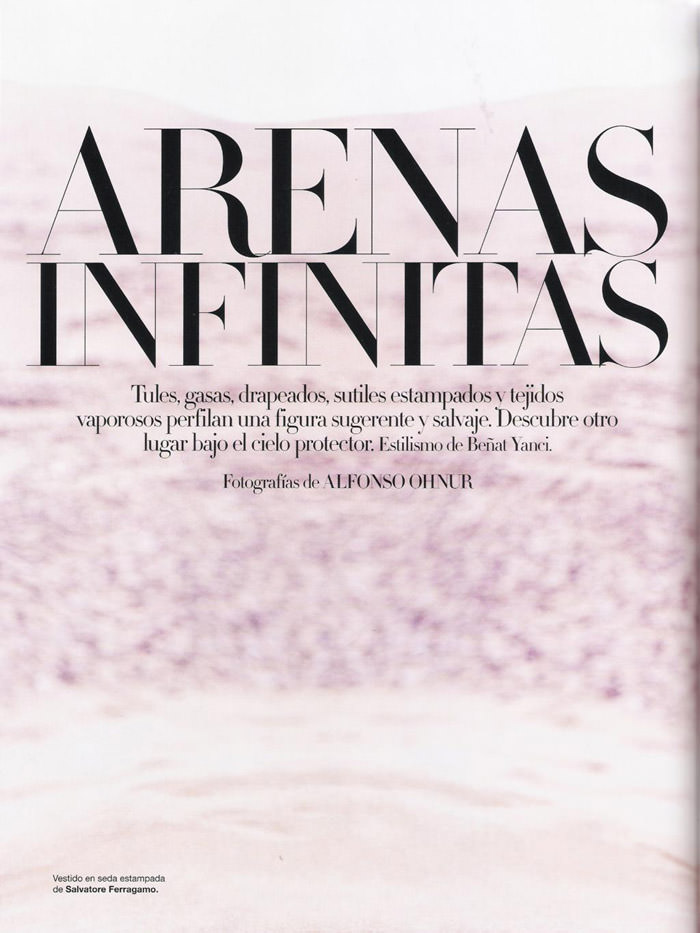 """Cato Van Ee photographed by Alfonso Ohnur in """"Arenas Infinitas"""" for Harper's Bazaar España, June 2010 1"""