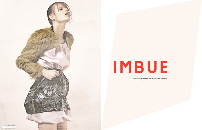 "Bara Holotova photographed by Amarpaul Kalirai in ""Imbue"" for The Ones 2 Watch 1"