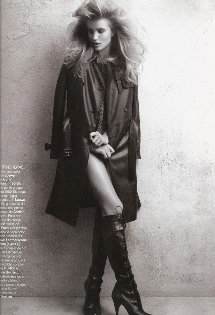"Rosie Huntington-Whiteley photographed by Victor Dermachelier in ""Etiqueta Negra"" for Vogue España, July 2010 5"