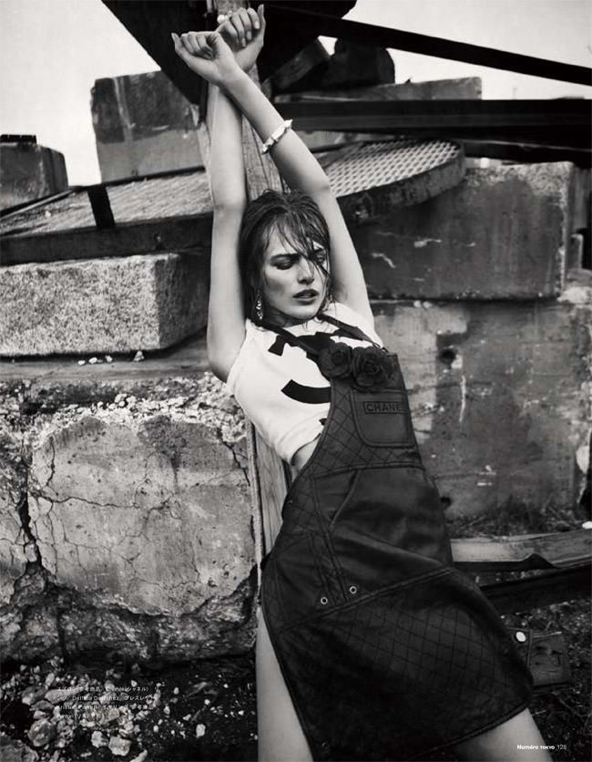 """Edita Vilkeviciute photographed by Sebastian Kim in """"Heat It Up!"""" for Numéro Tokyo, July / August 2010 6"""