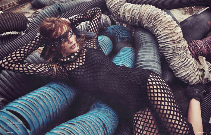 """Edita Vilkeviciute photographed by Sebastian Kim in """"Heat It Up!"""" for Numéro Tokyo, July / August 2010 7"""