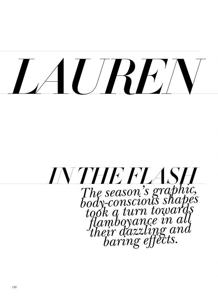 """Lauren Brown photographed by Nicole Bentley in """"Lauren -- In The Flash"""" for Vogue Australia, August 2010 1"""