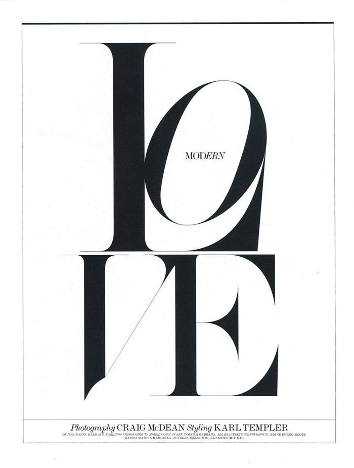 "Freja Beha Erichsen photographed by Craig McDean in ""Modern Love"" for Interview Magazine, August 2010 2"