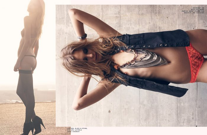"""Zuzanna Krzatala photographed by Sigurd Grünberger in """"Experience"""" for SOKOzine, Anniversary Issue 3"""