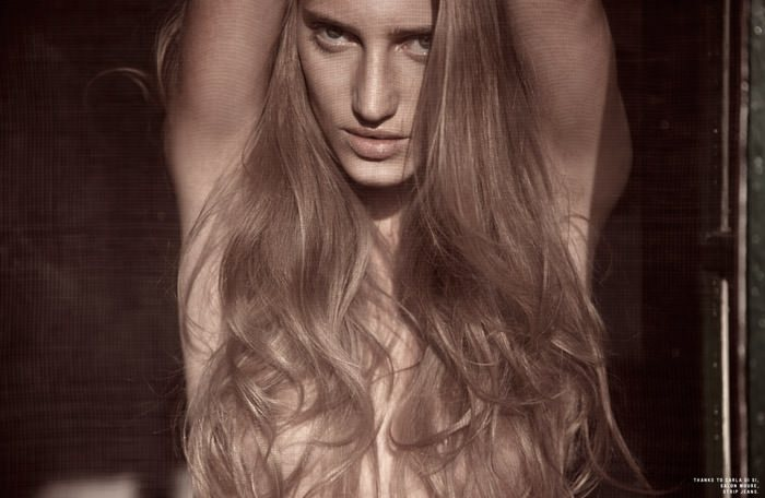 "Romina Senesi photographed by Nacho Ricci in ""Words Do Not Express Thoughts Very Well"" for SOKOzine, Anniversary Issue 8"