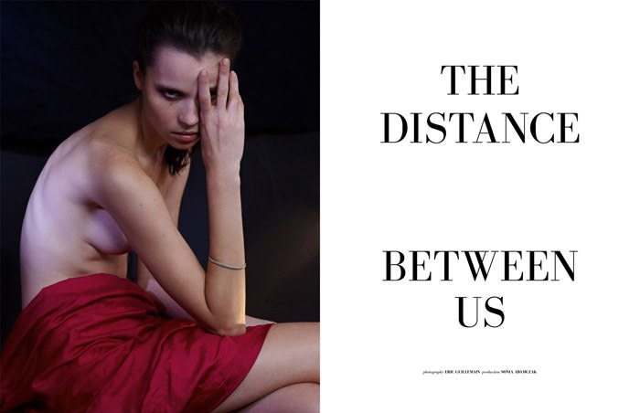 "Egle Tvirbutaite photographed by Eric Guillemain in ""The Distance Between Us"" for The Ones 2 Watch 1"