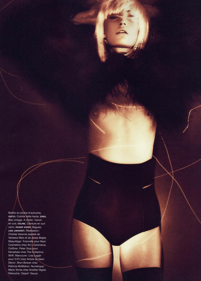 "Heidi Mount photographed by Chad Pitman in ""Hero Just For One Day"" for Numéro #116, September 2010"