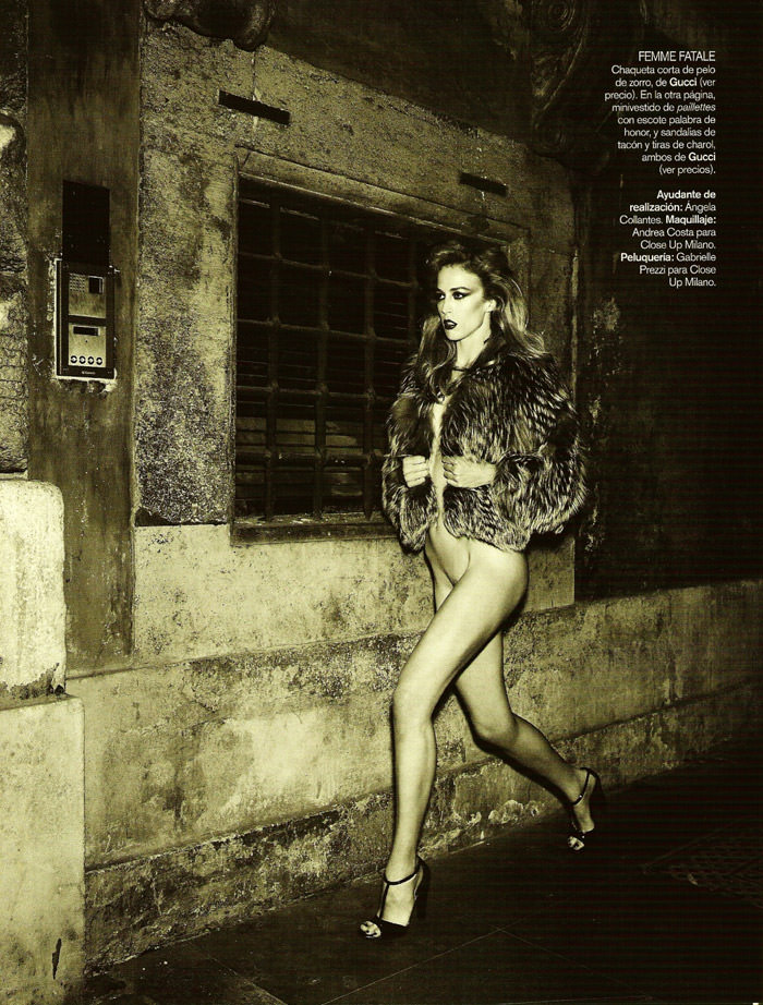 """Raquel Zimmermann photographed by Mariano Vivanco in """"La Dolce Vita (Revisited) for Vogue España, September 2010"""