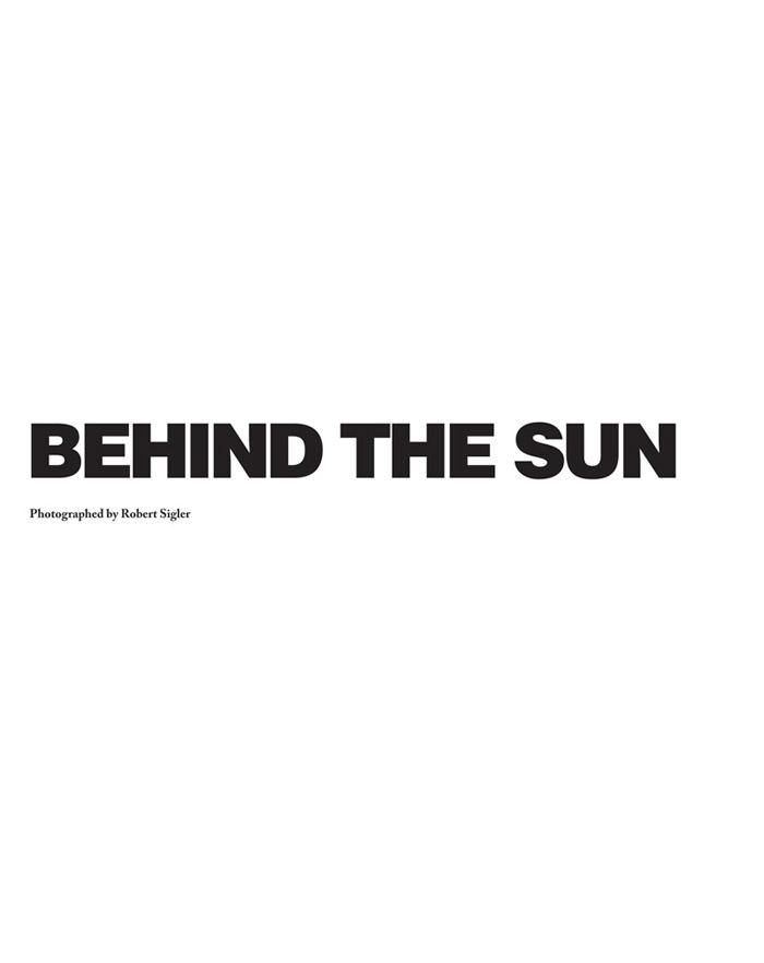 "Masha Rudenko photographed by Robert Sigler in ""Behind the Sun"" for Malibu Magazine 2"