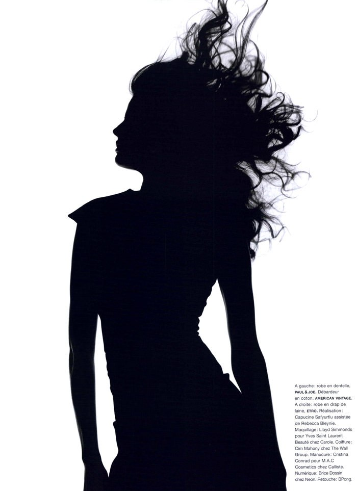 """Cameron Russell photographed by Ben Hassett in """"Equinoxe"""" for Numéro #117, October 2010 12"""