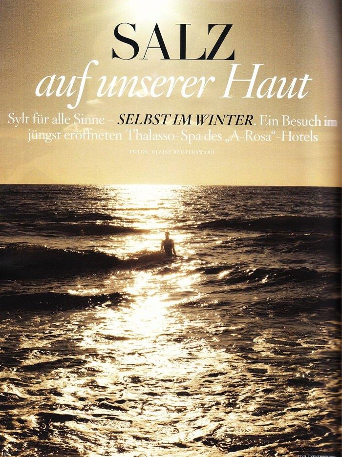 """Katrin Thormann photographed by Blaise Reutersward in """"Salz auf unserer Haut"""" for Vogue Deutschland, November 2010 2"""