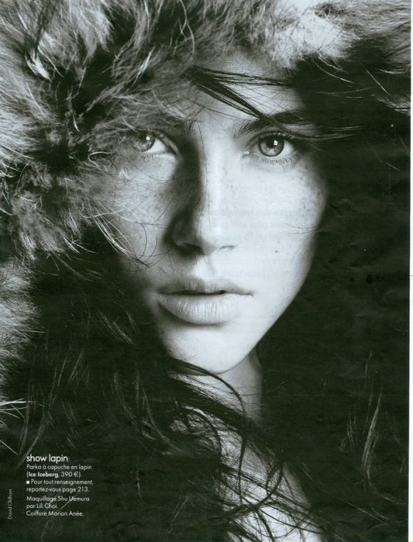 Anna Christine Speckhart photographed by David Oldham for Elle France, October 2010 1