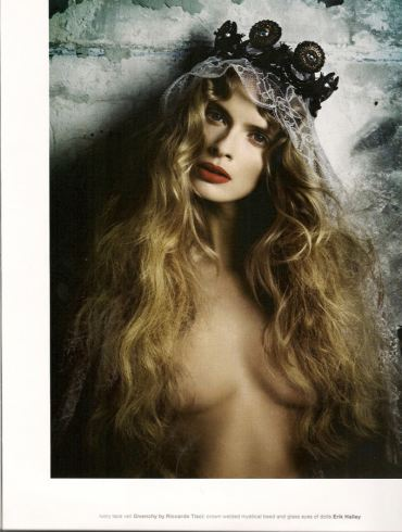 """Julia Stegner photographed by Daniele & Iango in """"Too Beautiful Julia"""" for Muse, Winter 2010 1"""