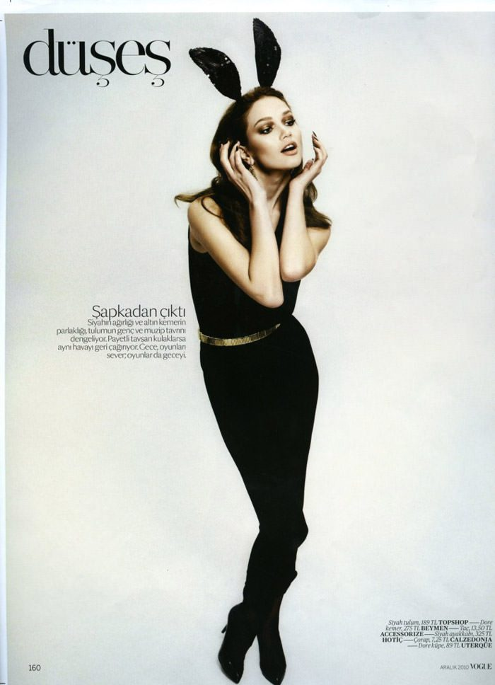 """Elena Lomkova photographed by Emre Dogru in """"Stüdyo 54"""" for Vogue Türkiye, December 2010 4"""