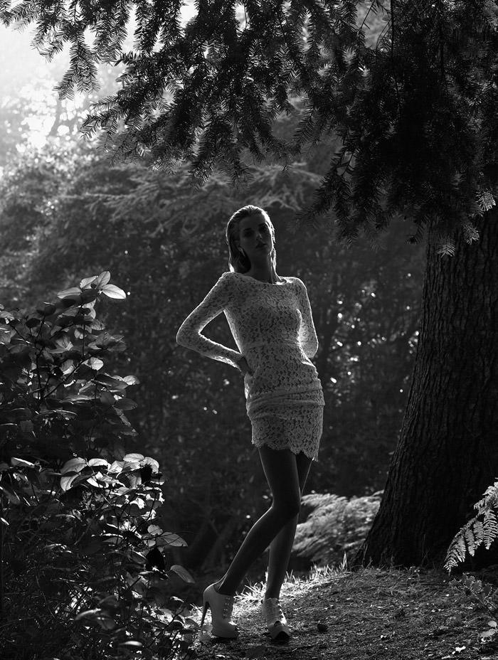 "Denisa Dvorakova photographed by Johan Sandberg in ""White Affair"" for Marie Claire Italia, January 2011 11"