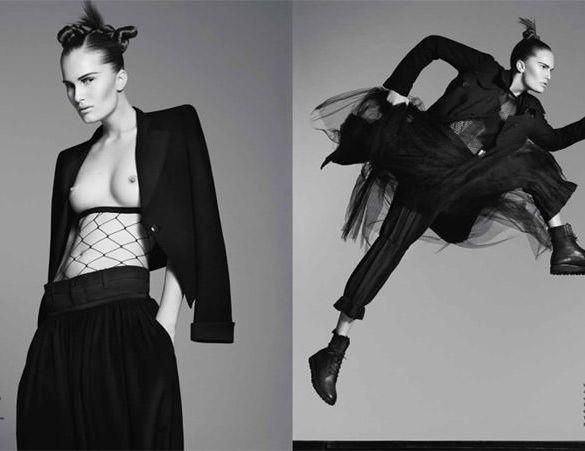 "Alla Kostromichova photographed by Ben Weller in ""Dancing In The Dark"" for Bon, Spring / Summer 2011 1"