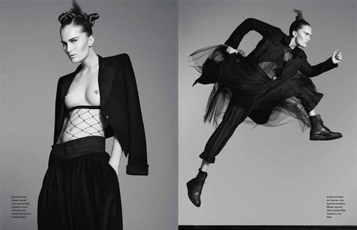"Alla Kostromichova photographed by Ben Weller in ""Dancing In The Dark"" for Bon, Spring / Summer 2011 5"