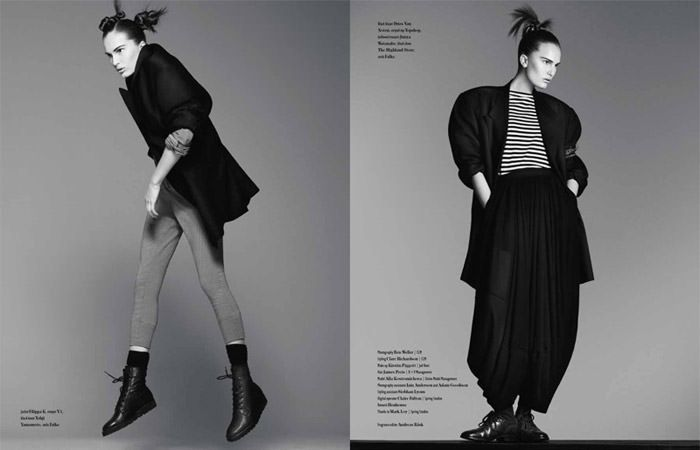 "Alla Kostromichova photographed by Ben Weller in ""Dancing In The Dark"" for Bon, Spring / Summer 2011 8"