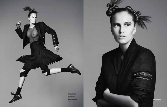 "Alla Kostromichova photographed by Ben Weller in ""Dancing In The Dark"" for Bon, Spring / Summer 2011 3"
