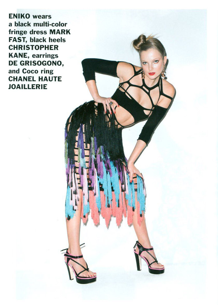 Enikő Mihalik and Edita Vilkeviciute photographed by Terry Richardson for Purple, Spring 2011 1