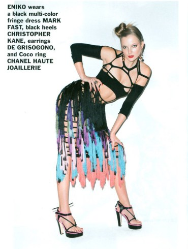 Enikő Mihalik and Edita Vilkeviciute photographed by Terry Richardson for Purple, Spring 2011 3