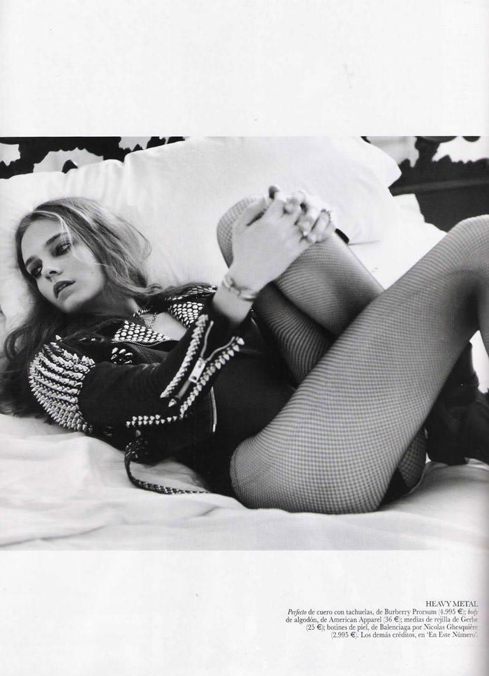 "Nimue Smit photographed by David Vasiljević in ""Princesa Punk"" for Vogue España, April 2011 6"
