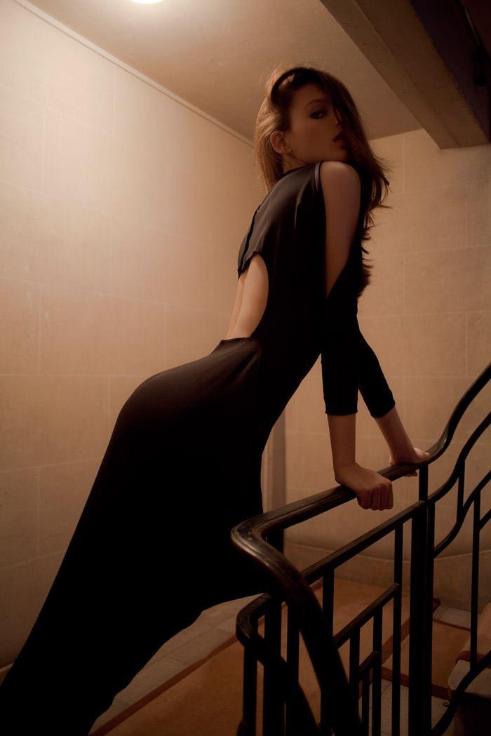 Georgina Stojiljković photographed by Christophe Rihet for Tank, Spring & Summer 2011 10