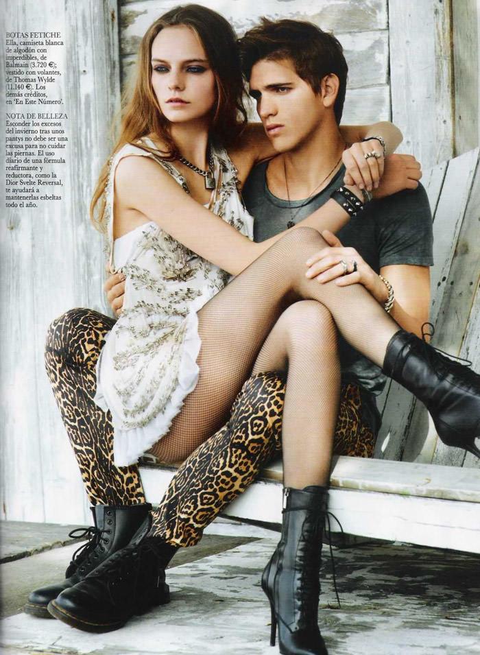 "Nimue Smit photographed by David Vasiljević in ""Princesa Punk"" for Vogue España, April 2011 7"
