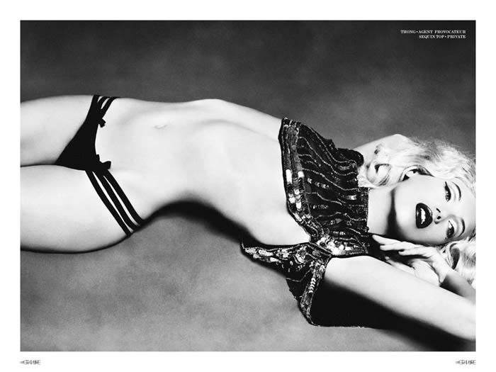 """Mona Johannesson photographed by Honer Akrawi in """"Mona"""" for Gravure 5"""
