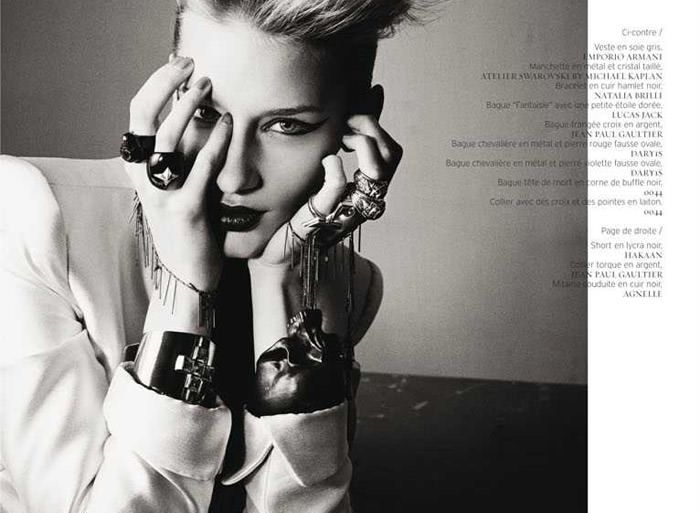 "Linda Vojtova photographed by Taka Mayumi in ""Art Fame"" for French Revue de Modes, Spring 2011 1"
